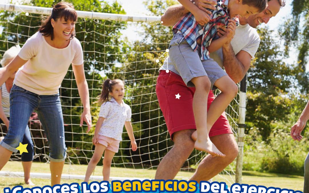 ¿Conoces los beneficios del ejercicio al practicarlo en familia?